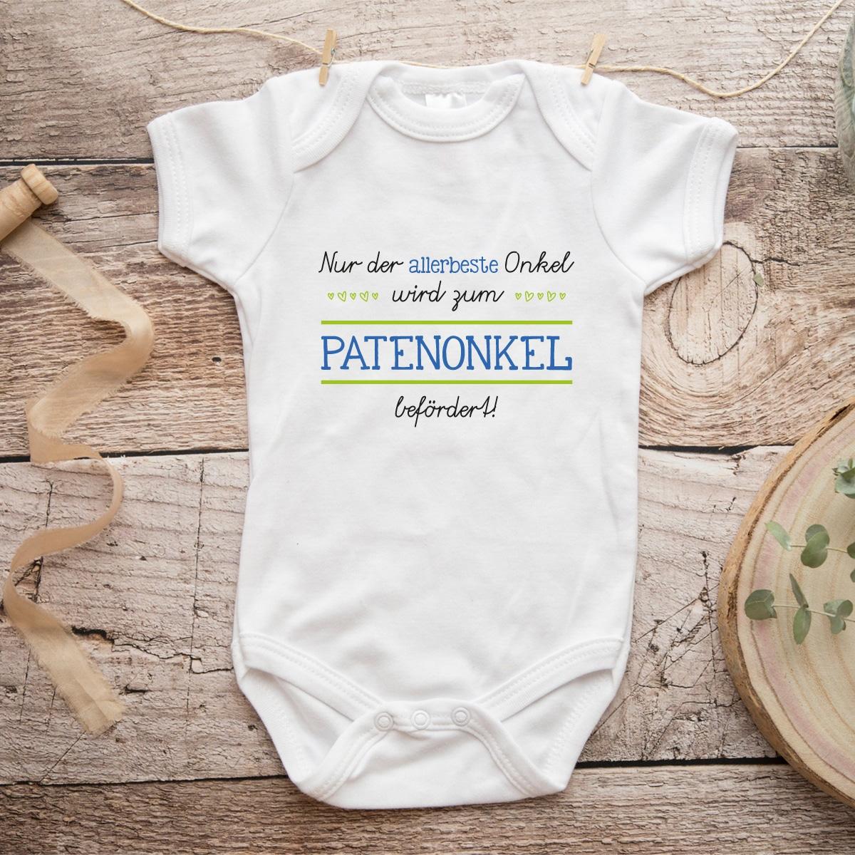 Patentante Patenonkel Taufe Strampler Babybody Baby Body Pateneltern werden