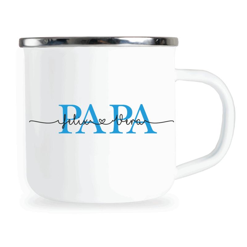 personalisierte Emaille-Tasse, Papa Geschenk personalisiert, Papa Tasse personalisiert, Papa Emaille-Tasse personalisiert, Vatertagsgeschenk personalisiert, Papa Geschenk personalisiert, Emaille-Tasse für Papa, Vatertag Geschenk Opa, Vatertag Tasse, Papa Geschenke, Emaille-Tasse Vatertag, Geschenkideen Vatertag