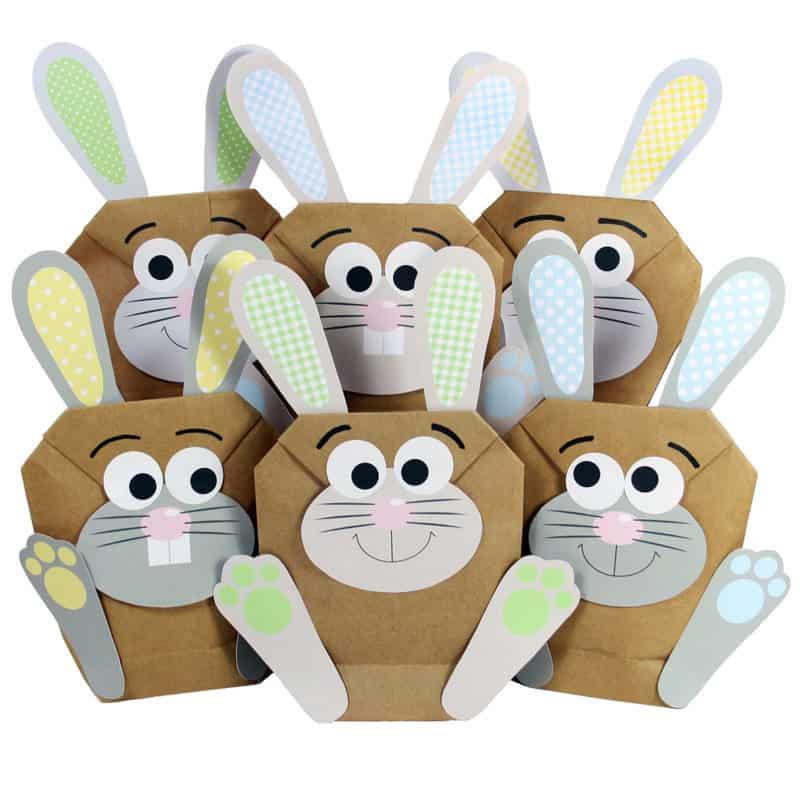DIY Osterhasen, Osternest, Osterkörbchen, Ostern zum Basteln, Ostern zum Befüllen, Osterhasentüte, Osterfest basteln, Tüten zum Befüllen zu Ostern, Ostern personalisiert