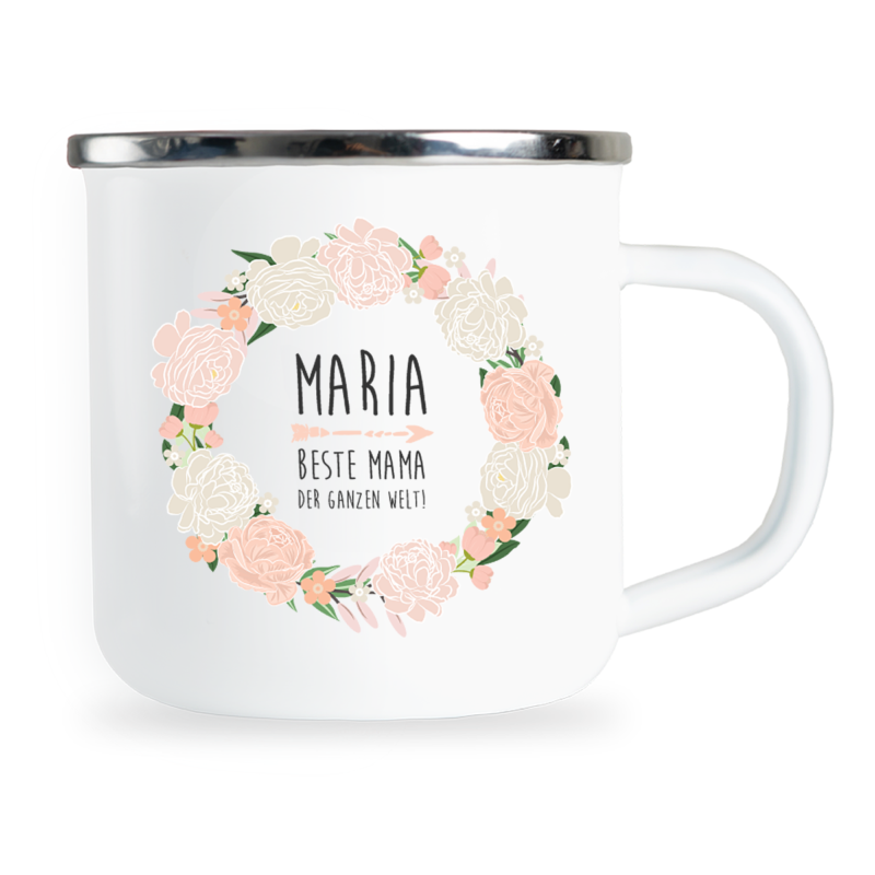 personalisierte Emaille-Tasse, Mama Geschenk personalisiert, Mama Tasse personalisiert, Mama Emaille-Tasse personalisiert, Muttertagsgeschenk personalisiert, Mama Geschenk personalisiert, Emaille-Tasse für Mama, Emaille-Tasse Muttertag