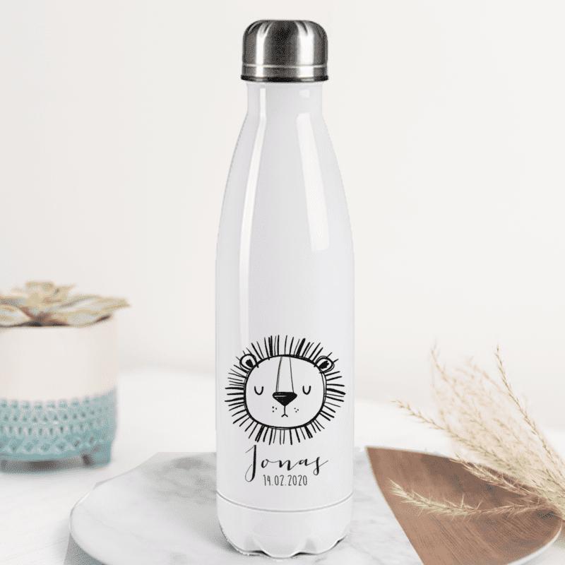 Edelstahl Trinkflasche mit Name, Trinkflasche personalisiert, Kinder Trinkflasche personalisiert, Kinderflasche mit Name, Edelstahl Flasche 500 Mililiter, Edelstahl Flasche personalisiert, Flasche für Kindergarten mit Name, Flasche für Schule mit Name