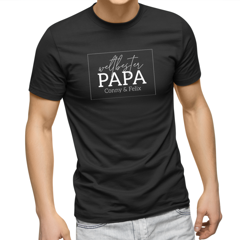Papa Geburtstag, Papa Geschenk, Papa Geschenk personalisiert, Papa Geburtstag personalisiert, Papa T-Shirt, Papa T-Shirt mit Kindernamen, Papa T-Shirt mit Namen, Papa T-Shirt personalisiert, Papa Geburtstagsgeschenk, Papa T Shirt Geschenk, Papa T Shirt Tochter, Papa T Shirt Sohn, Papa T Shirt 4 XL, weltbester Papa, weltbester Papa T Shirt