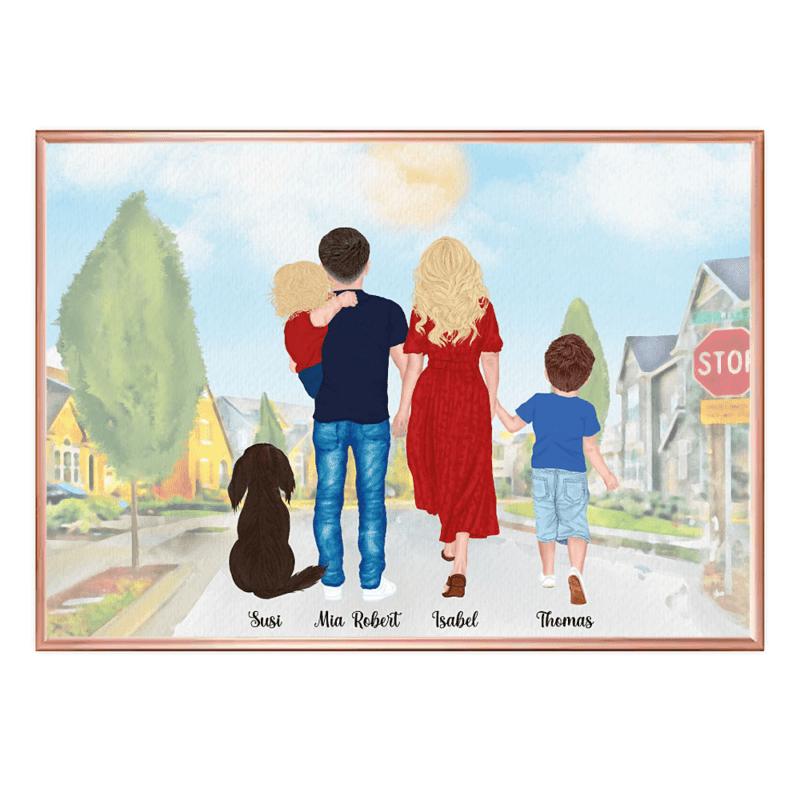 Muttertagsgeschenk personalisiert, Muttertag Geschenkideen,Poster Familie, Poster Familie personalisiert, Geschenk Familie personalisiert, Geschenk Mama personalisiert, Geschenk Muttertag personalisiert, Geschenk Vatertag personalisiert, Familien Print, Familie Poster, Familie mit Hund Geschenk