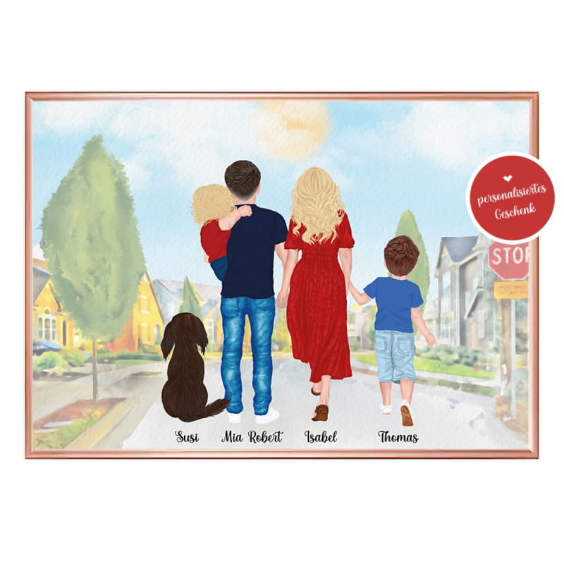 Poster Familie, Poster Familie personalisiert, Geschenk Familie personalisiert, Geschenk Mama personalisiert, Geschenk Muttertag personalisiert, Geschenk Vatertag personalisiert, Familien Print, Familie Poster, Familie mit Hund Geschenk, Muttertagsgeschenk personalisiert, Muttertag Geschenkideen