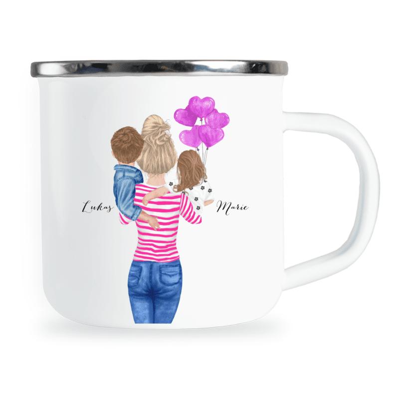 Geschenk Mama, Geschenkidee Mama, Mama personalisiertpersonalisierte Emaille-Tasse, Mama Geschenk personalisiert, Mama Tasse personalisiert, Mama Emaille-Tasse personalisiert, Muttertagsgeschenk personalisiert, Mama Geschenk personalisiert, Emaille-Tasse für Mama, Emaille-Tasse Muttertag