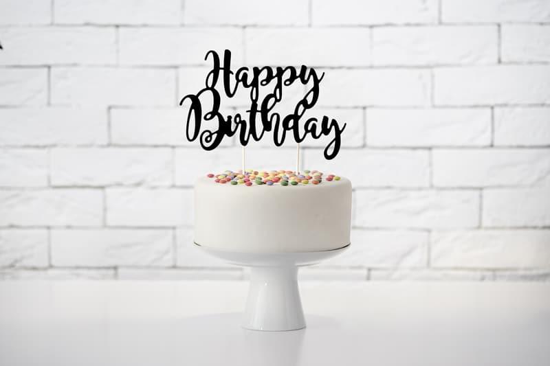Cake Topper Geburtstag, Geburtstags Topper, Torten Aufleger schwarz, Torten Aufleger Happy Birthday, Happy Birthday Torten Dekoration, Cake Topper schwarz, Cake Topper Happy Birthday, Cake Topper Karton