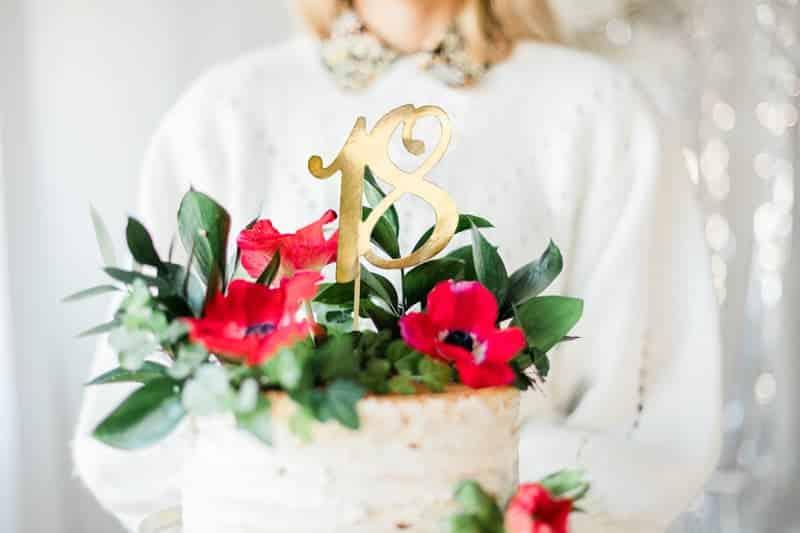 Cake Topper 18. Geburtstag gold, Cake Topper gold, Cake Topper Geburtstag, Tortendekoration, Tortenaufleger, Tortendekoration gold, Tortenaufleger gold, Sweet Eighteen