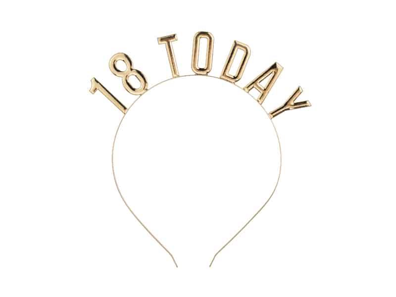 Haarreif 18 Geburstag, Haarreif Metal, Haarreif Geburtstag gold, 18 Geburtstag Dekoration, 18 Geburtstag Haarreif, Haarschmuck 18. Geburtstag