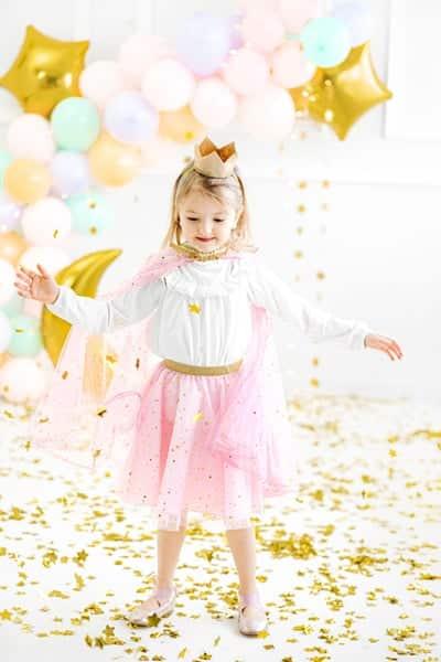 Kostüm Prinzessin, Prinzessinen Kostüm, Faschingskostüm rosa, Karnevalkostüm Rosa, Halloween Kostüm Rosa, Kindergeburtstag Prinzessin, Geburtstag Prinzessin, Satinrock,