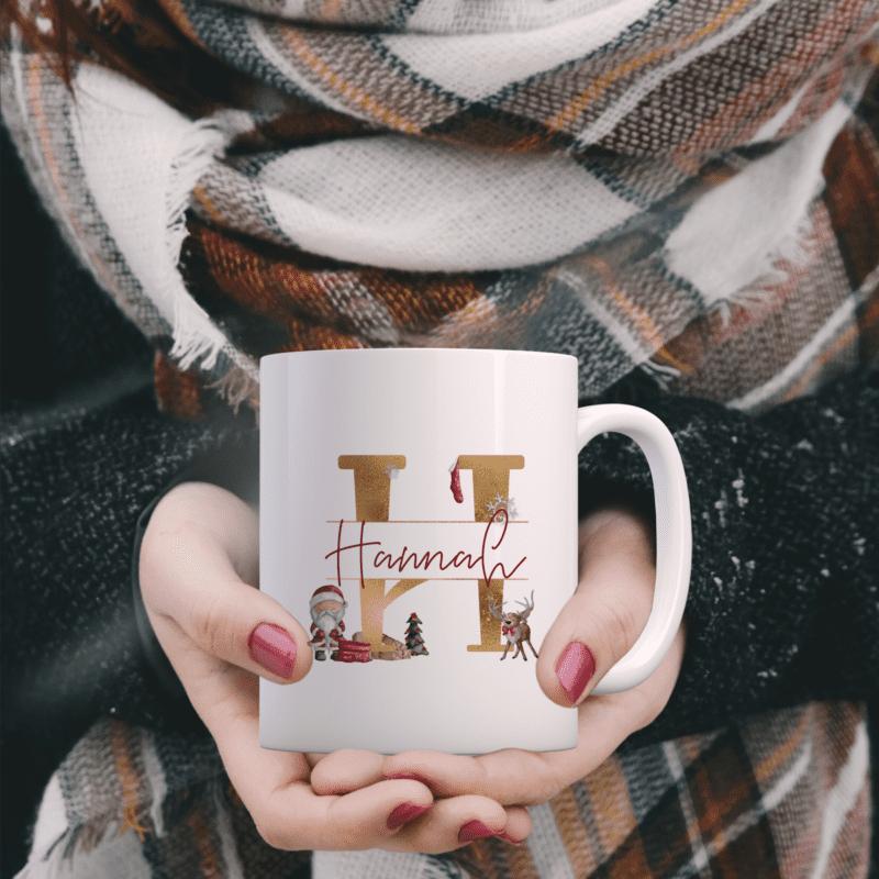 personalisierte Tasse, Tasse für Kinder, Trinkbecher Weihnachten, Trinkbecher Kinder, Weihnachtstasse Familie, personalisierte Weihnachtstasse Familie, Geschenkidee Kinde, personalisierte Geschenkidee, Tasse als Geschenkverpackung, Christmasbecher, Christmas Emaille-Tasse