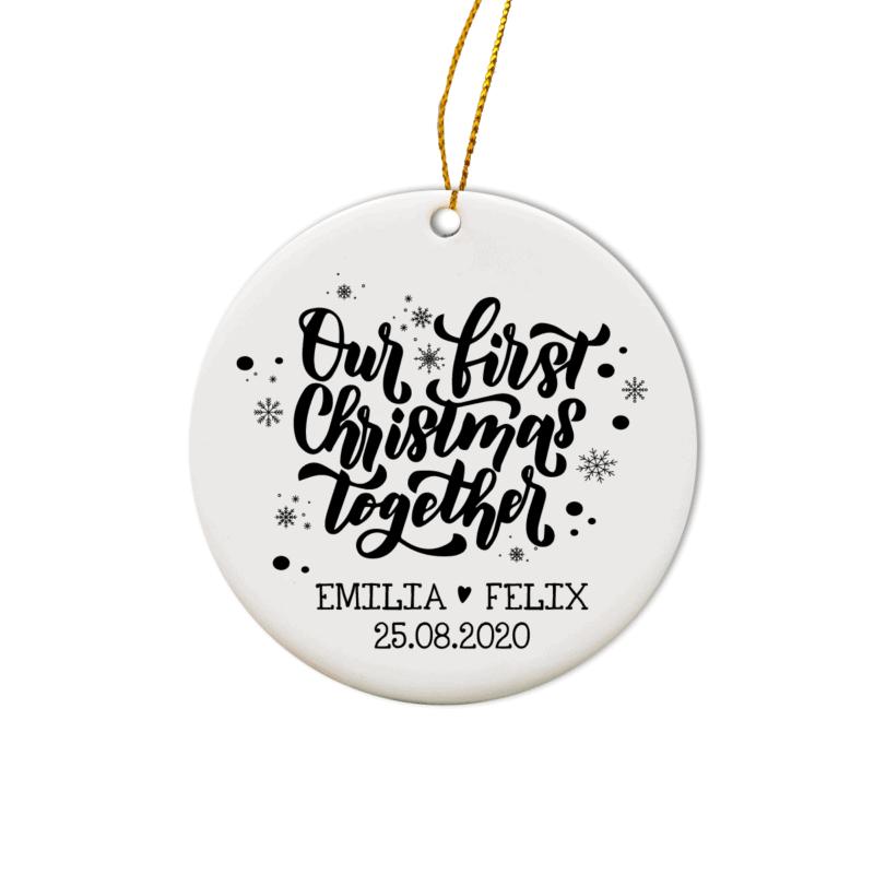 personalisiertes Weihnachtsornament Fuchs, Baumschmuck Weihnachten, personalisierte Geschenkidee Familie, Familiengeschenk Weihnachten, Weihnachtskugel mit Name, Weihnachtskugeln mit Name, Weihnachtskugel personalisiert, Geschenkidee Kinder, Geschenkidee Familie, Weihnachtskugel mit Name Österreich, Weihnachts Ornament Keramik, Weihnachtsschmuck Keramik, Baumbehang Reh, personalisierte Geschenkidee Weihnachten